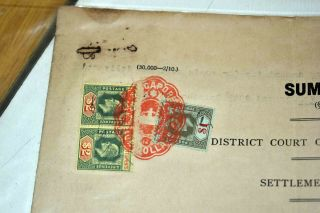 Singapore/straits Settlements Ex 1910/1950s: Old Find With Documents Etc.