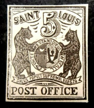Buffalo Stamps: Scott 11x1 St.  Louis Provisional,  Nh/og,  Cv = $8,  000