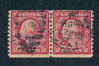 Drbobstamps Us Scott 491 Scarce Pair Stamps W/aps Cert Scv $3750