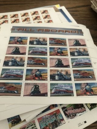 US Postage Stamp Lot Over $6,  000 Face Value 1970 - modern 7