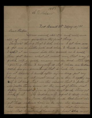 1883 Fort Bennett,  Dakota Territory Indian Trader Letter - Sitting Bull Content