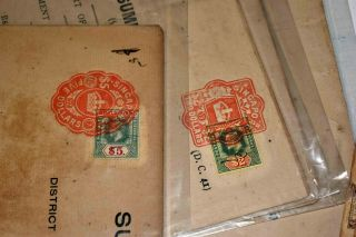 Singapore/straits Settlements Ex 1910/1940s: Large Old Find With Documents Etc.