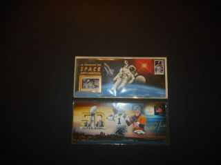 Bowl 50 Cover & 1994 Endeavor Space Shuttle Cover With Mnh 2842