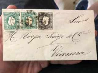 Rare Portugal Folding Letter Cover 1879 Guimares To Viana Do Castelo