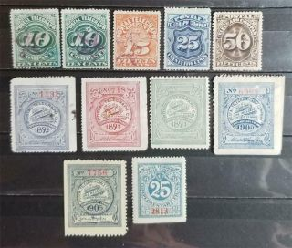 Postal Telegraph Stamp Lot 1892 - 1920 Mh Ng Og E2916