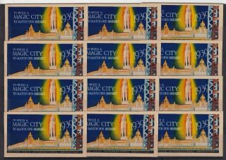 F - Ex15756 Us Usa Cinderella Magic City Golden Gate Exposition 1939.