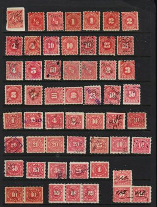 U.  S.  55 Documentary Stamps - Value ?