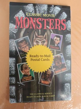 Classic Movie Monsters Postal Cards Set