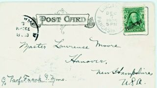 Postal History Philippines Overprint Scott 226 On Manila Postcard 1905