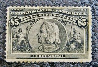 Nystamps Us Stamp 245 Og H $2500