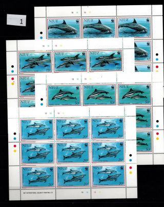 / Niue - Mnh - Nature - Wwf - Dolphins - Full Sheets