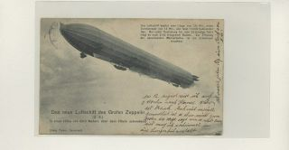 Zeppelin Picture On Postcard Lot 35