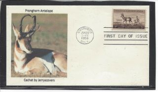 Pronghorn Antelope Fdc 1956 Gunnison,  Colorado Only One Made