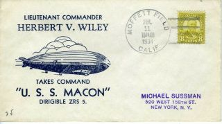 Airship Uss Macon Zeppelin Wiley Takes Command