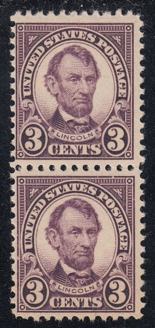 Tdstamps: Us Stamps Scott 555 3c Lincoln Nh Og Pair