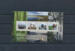 Gx02227 Canada Animals Fauna Flora Wildlife Good Sheet Mnh