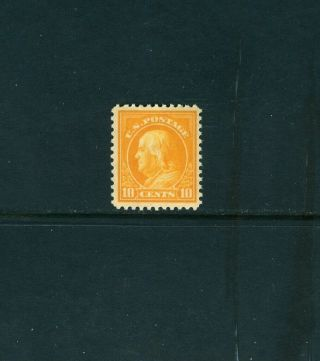 Scott 510,  10c Orange Yellow,  Perf 11,  Unwmkd.  Nh.