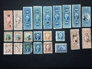 Gandg Us Stamp Bob Lot Mostly Revenue Mixed Selection