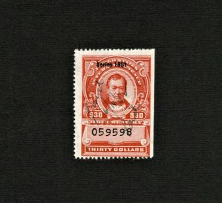 R580 1951 $30 Documentary Stamp Cv$25