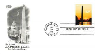 3473 $12.  25 Washington Monument,  Artcraft Cachet [e546520]