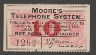 Usa Telephone Stamp Coupon Cinderella Revenue Fiscal 9 - 18 Telegraph 1930ish?