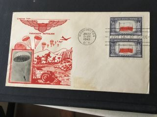 Us Fdc 909 Poland.  6/22/43 Crosby Cachet Wwii Overrun Nat Unaddressed Unsealed