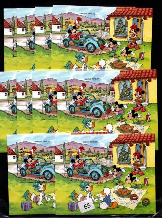 / 10x Sierra Leone - Mnh - Disney - Cartoons - Mickey - Minnie - Cars - Donald