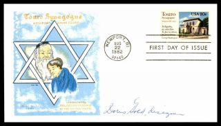 Touro Synagogue Doris Gold Signed 1982 Relgious Freedom Fdc First Day Cover
