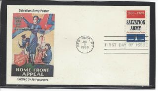 Salvation Army Fdc 1965 York,  Ny Only One Made