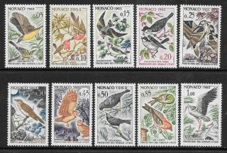 Monaco - 1962.  Protection Of Birds - Set Of 10,  Mnh.  Cat £18