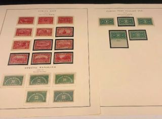 Scott Album Page Us Postage Stamp Lot / / / Never Hinged / 1912 - 1929