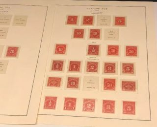 Scott Album Page Us Postage Stamp Lot / / / Never Hinged / 1914 - 1931