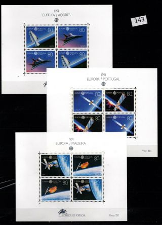 /// Portugal - Mnh - Europa Cept 1991 - Space - Spaceships - Moon