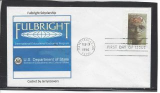 Fulbright Scholarship Fdc 1996 Fayetteville,  Arkansas Only One Made