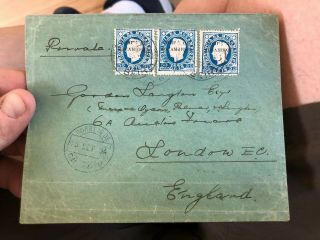 2 1884 & 1885 Portuguese Colonial Mozambique Postal Covers To Lisbon & London 2