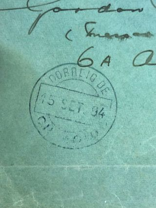 2 1884 & 1885 Portuguese Colonial Mozambique Postal Covers To Lisbon & London 4