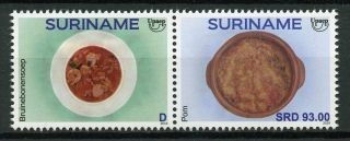 Suriname 2019 Mnh Traditional Foods Upaep 2v Set Gastronomy Cultures Stamps