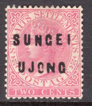 Malaya Sungei Ujong 1882 - 84 Type 12,  18 Overprint On 2c Un. ,  Sg 21 Cat £150