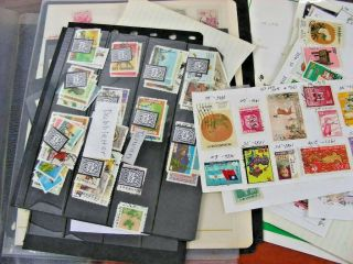 China,  Hong Kong (some) Accumulation Of Stamps Books & Others