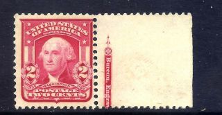 Us Stamps - 319 - Mnh - 2 Cent Washington Issue - Cv $15