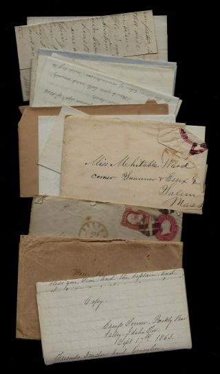 Group Of Idaho Territory Civil War Letters Famous Writer -