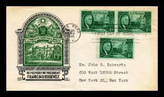 Us Cover Franklin D Roosevelt Hyde Park Fdc Scott 930 Staehle Cachetcraft