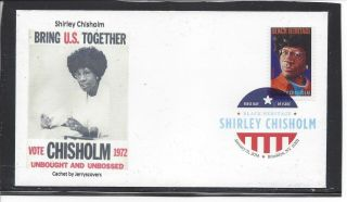 Shirley Chisholm Fdc 2014 Brooklyn,  York Only One Made