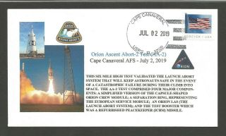 Orion Ascent Abort - 2 Test (aa - 2) At Cape Canaveral Afs On July 2,  2019
