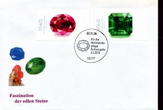 Geology Minerals Ruby Sapphire Emerald 2012 Germany 2 Fdc
