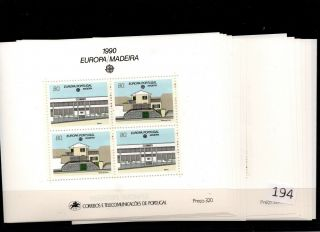 /// 12x Portugal - Mnh - Europa Cept 1990 - Architecture - Madeira