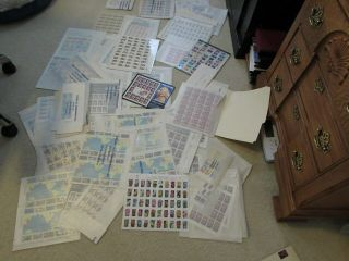 Postage Stamps Lot Over $360 Face Value Estate Find