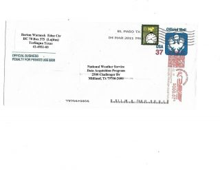 Scott Uo91 Official Mail Entire Type I F - Vf (unwatermarked) Scv$15.  00