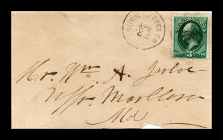 Dr Jim Stamps Us Bowie And Popes Cr Rpo Railroad Post Office Ladies Cover
