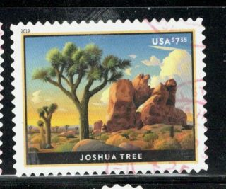 2019 5347 $7.  35 Joshua Tree Priority Mail Canceled Off Paper